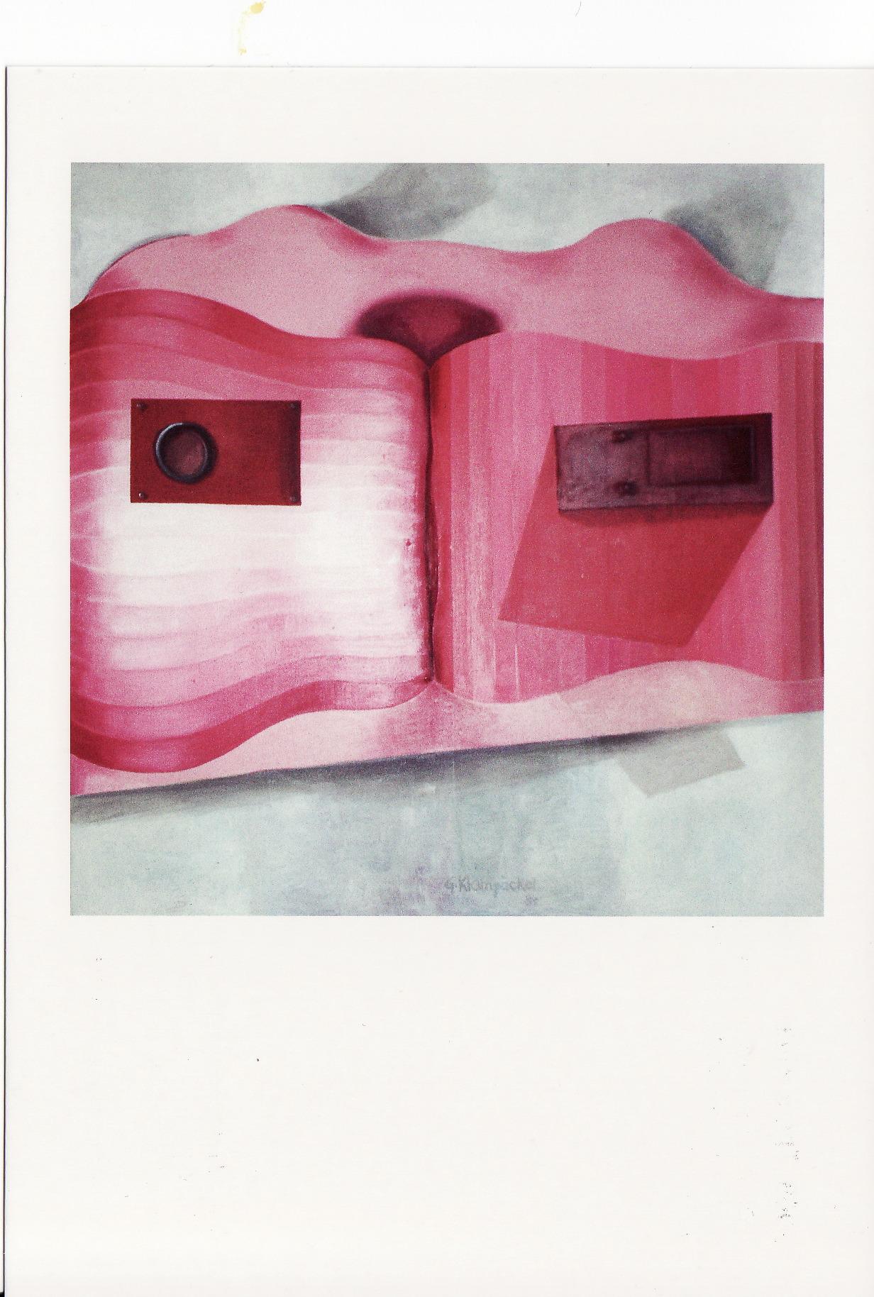 """CityCard_Nr. 8: """"pink"""", Öl auf Leinwand, 1984."""