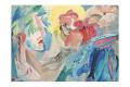 "CityCard_Nr. 15: ""Paradiesische Szene"", Aquarell, 1960er Jahre."