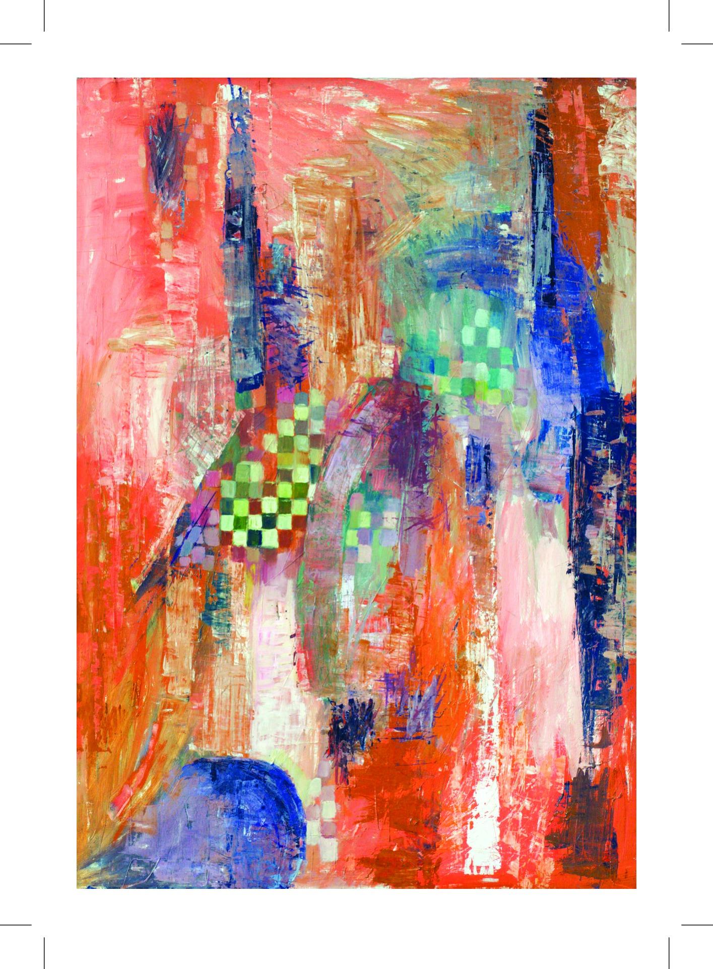 """Citycard Nr. 17: """"Enigma"""", Öl auf Leinwand, undatiert."""