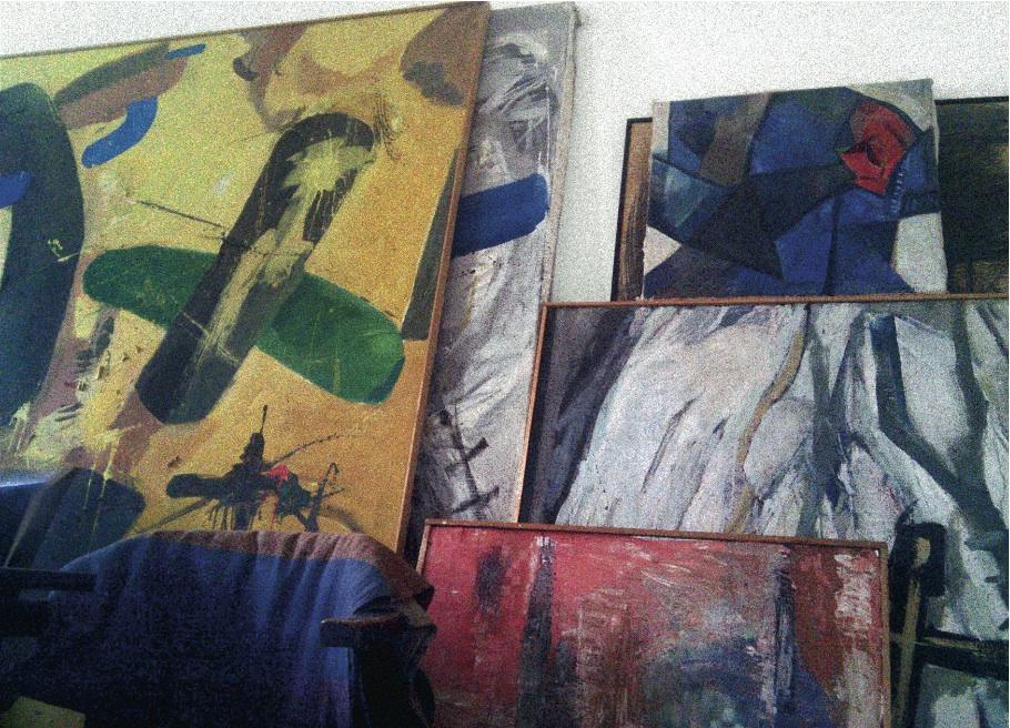 CityCard_Nr. 12: Atelierfoto, 2010. Foto: Till Klampäckel.