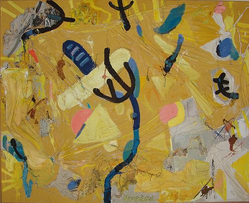 """""""Der tanzende Baum"""", Mischtechnik, 1995/96."""